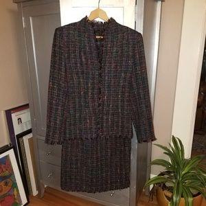 ABS Multi-Colored Tweedy Dress Suit